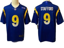 Mens Nfl Los Angeles Rams #9 Matthew Stafford Blue Vapor Untouchable Limited Nike Jersey