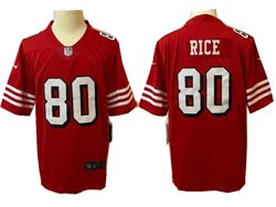 Mens Nfl San Francisco 49ers #80 Jerry Rice Red Color Rush Vapor Untouchable Limited Jersey