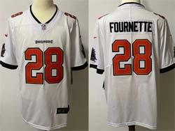 Mens Nfl Tampa Bay Buccaneers #28 Leonard Fournette White Vapor Untouchable Limited Nike Jersey