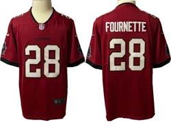 Mens Nfl Tampa Bay Buccaneers #28 Leonard Fournette Red Vapor Untouchable Limited Nike Jersey