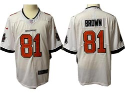 Mens Nfl Tampa Bay Buccaneers #81 Antonio Brown White Vapor Untouchable Limited Nike Jersey