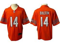Mens Nfl Chicago Bears #14 Andy Dalton Orange Vapor Untouchable Limited Nike Jersey