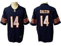Mens Nfl Chicago Bears #14 Andy Dalton Blue Vapor Untouchable Limited Nike Jersey