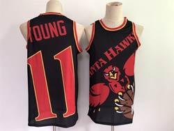 Mens Nba Atlanta Hawks #11 Trae Young Black Big Face 2.0 Swingman Jersey