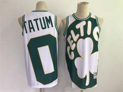 Mens Nba Boston Celtics #0 Jayson Tatum White Big Face 2.0 Swingman Jersey
