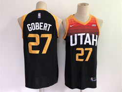 Mens 2021 Nba Utah Jazz #27 Rudy Gobert Black City Edition Nike Swingman Jersey