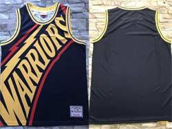 Mens Nba Golden State Warriors Blank Black Mitchell&ness Hardwood Classics Swingman Jersey