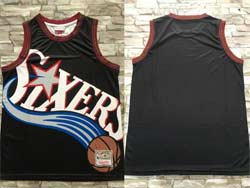 Mens Nba Philadelphia 76ers Blank Black Mitchell&ness Hardwood Classics Swingman Jersey