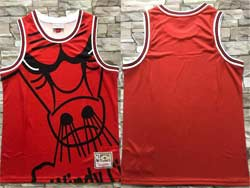 Mens Nba Chicago Bulls Blank Red Mitchell&ness Hardwood Classics Swingman Jersey