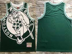 Mens Nba Boston Celtics Blank Green Mitchell&ness Hardwood Classics Swingman Jersey