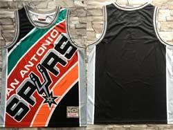 Mens Nba San Antonio Spurs Spurs Blank Black Mitchell&ness Hardwood Classics Swingman Jersey
