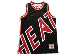 Mens Nba Miami Heat Blank Black Mitchell&ness Hardwood Classics Swingman Jersey