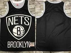 Mens Nba Brooklyn Nets Blank Black Mitchell&ness Hardwood Classics Swingman Jersey
