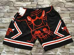 Mens Nba Chicago Bulls Black Fashion Mitchell&ness Hardwood Classics Pocket Shorts
