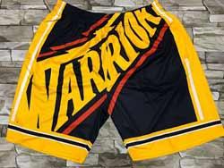 Mens Nba Golden State Warriors Yellow Mitchell&ness Hardwood Classics Pocket Shorts