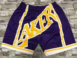 Mens Nba Los Angeles Lakers Purple Mitchell&ness Hardwood Classics Pocket Shorts