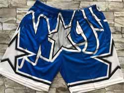 Mens Nba Orlando Magic Blue Mitchell&ness Hardwood Classics Pocket Shorts