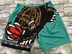 Mens Nba Memphis Grizzlies Green Mitchell&ness Hardwood Classics Pocket Shorts