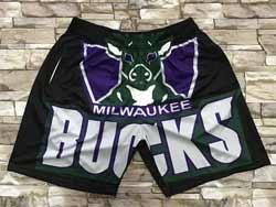 Mens Nba Milwaukee Bucks Black Mitchell&ness Hardwood Classics Pocket Shorts