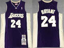 Mens Nba Los Angeles Lakers #24 Kobe Bryant Purple Mitchell&ness Hardwood Classics Swingman Jersey