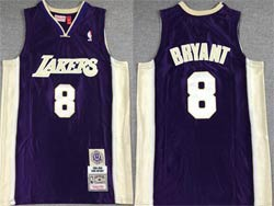 Mens Nba Los Angeles Lakers #8 Kobe Bryant Purple Mitchell&ness Hardwood Classics Swingman Jersey