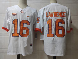 Mens Ncaa Nfl Clemson Tigers #16 Lawrence White Nike Jersey