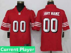 Mens Women Youth  Nfl San Francisco 49ers Current Player Red Color Rush Vapor Untouchable Limited Jersey