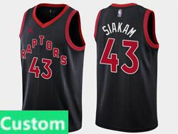 Mens Womens Youth Nba Toronto Raptors Custom Made 2021 Black Statement Edition Jordan Swingman Jersey