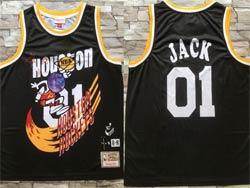 Mens Nba Houston Rockets #01 Jack Black Mitchell&ness Hardwood Classics Swingman Jersey