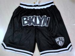 Mens Nba Brooklyn Nets Black Just Don Pocket Shorts