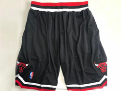 Mens Nba Chicago Bulls Black Mitchell&ness Hardwood Classics Pocket Shorts