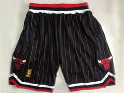 Mens Nba Chicago Bulls Black Stripe Mitchell&ness Hardwood Classics Pocket Shorts