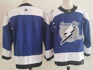 Mens Nhl Tampa Bay Lightning Blank Blue 2021 Reverse Retro Alternate Adidas Jersey