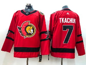 Mens Nhl Ottawa Senators #7 Brady Tkachuk Red 2021 Reverse Retro Alternate Adidas Jersey