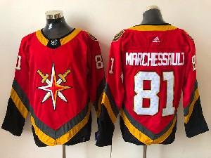 Mens Nhl Vegas Golden Knights #81 Jonathan Marchessault Red 2021 Reverse Retro Alternate Adidas Jersey