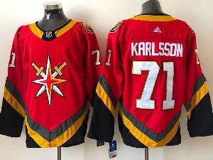 Mens Nhl Vegas Golden Knights #71 William Karlsson Red 2021 Reverse Retro Alternate Adidas Jersey