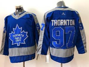 Mens Nhl Toronto Maple Leafs #97 Joe Thornton Blue 2021 Reverse Retro Alternate Adidas Jersey