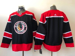 Mens Nhl Chicago Blackhawks Blank Black 2021 Reverse Retro Alternate Adidas Jersey