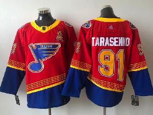 Mens Nhl St.louis Blues #91  Vladimir Tarasenko (a)  Red 2021 Reverse Retro Alternate Adidas Jersey