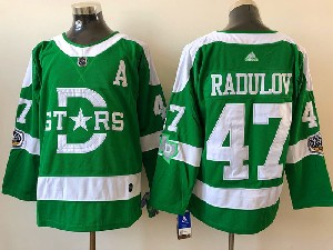 Mens Nhl Dallas Stars #47 Alexander Radulov Green 2019 Winter Classic Adidas Jersey