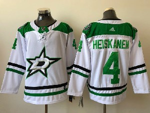 Mens Nhl Dallas Stars #4 Miro Heiskanen White Adidas Away Jersey