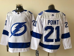 Mens Nhl Tampa Bay Lightning #21 Brayden Point White 2020 Stanley Cup Champions Jersey