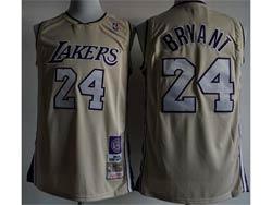 Mens Nba Los Angeles Lakers #24 Kobe Bryant Cream Mitchell&ness Hardwood Classics Swingman Jersey
