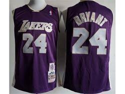 Mens Nba Los Angeles Lakers #24 Kobe Bryant Purple Mitchell&ness Hardwood Classics Swingman Jersey