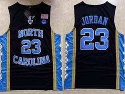 Mens New Ncaa Nba North Carolina #23 Jordan Black Jersey