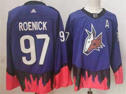 Mens Nhl Arizona Coyotes #97 Roenick Purple 2021 Reverse Retro Alternate Adidas Jersey
