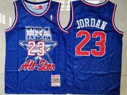 Mens Nba Chicago Bulls #23 Michael Jordan Blue 93 All Star Mitchell&ness Hardwood Classics Mesh Jersey