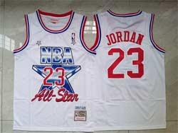 Mens Nba Chicago Bulls #23 Michael Jordan White 91 All Star Mitchell&ness Hardwood Classics Mesh Jersey