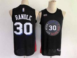 Mens Nba New York Knicks #30 Julius Randle 2021 Black City Edition Swingman Nike Jersey