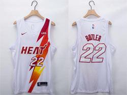 Mens Nba Miami Heat #22 Jimmy Butler White Fashion Edition Nike Swingman Jersey